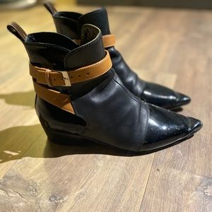 Louis Vuitton mixed leather boots